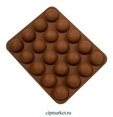 Форма для выпечки силиконовая Полусфера 20 ячеек (d=3,7). Размер: 22,6х18,5х3 см - фото 10000