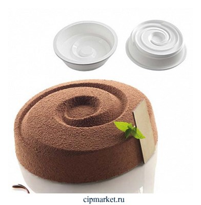 """Форма силиконовая для муссовых тортов и мороженого """"Спираль"""". Размер: 17,5*4,8 см. - фото 10013"""