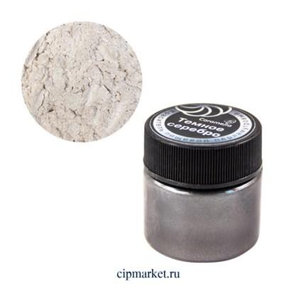 Кандурин краситель сухой перламутровый Caramella Темное серебро, 5 гр - фото 10061