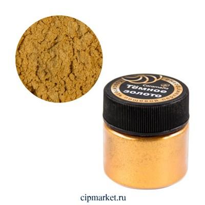 Кандурин краситель сухой перламутровый Caramella Темное золото, 5 гр - фото 10063