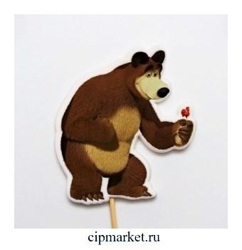 Топпер сахарный Мишка - 21. Высота фигурки 9 см. Вес:40 +/-10 грамм. Лицензия - фото 10124