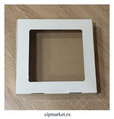 Коробка для пряников с окном. Размер: 20*20*4 см. - фото 4486