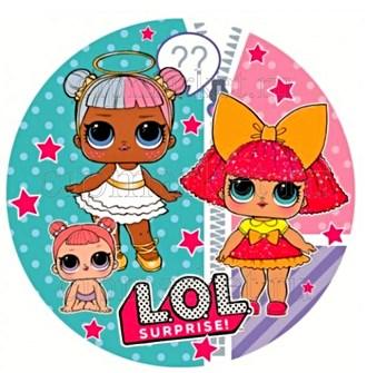 Съедобная картинка Куклы LOL № 01298. Лист А4. Вафельная/сахарная картинка. - фото 4562