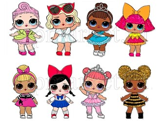 Съедобная картинка Куклы LOL № 01301. Лист А4. Вафельная/сахарная картинка. - фото 4565