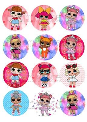 Съедобная картинка Куклы LOL № 01302. Лист А4. Вафельная/сахарная картинка. - фото 4566