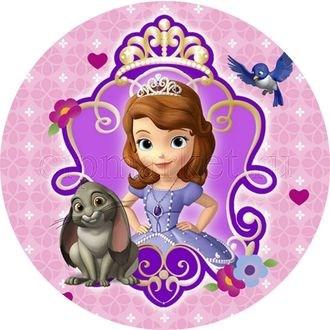 Съендобная картинка  Принцесса София № 082, лист А4.  Вафельная/сахарная картинка. - фото 4582