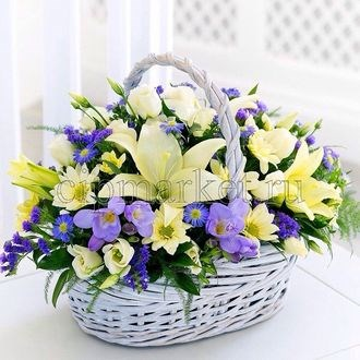 Съедобная картинка Букет цветов № 01267, лист А4. Вафельная/сахарная картинка. - фото 4654
