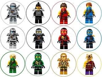 Съедобная картинка Лего Нинзяго для капкейков № 01149, лист А4. Вафельная/сахарная картинка. - фото 4687