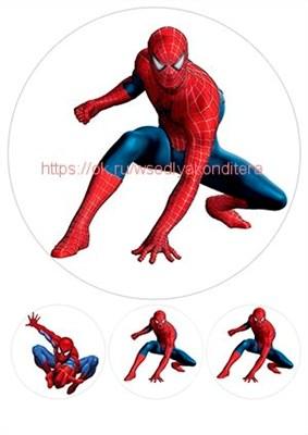 Съедобная картинка Человек-паук № 1753, лист А4. Вафельная/сахарная картинка. - фото 4695