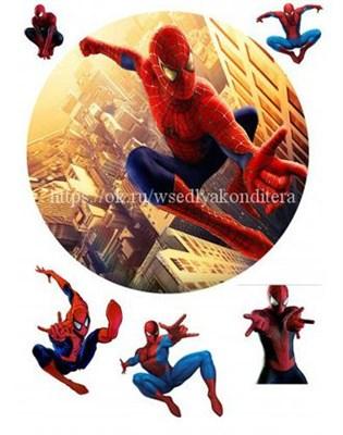 Съедобная картинка Человек-паук № 1577, лист А4. Вафельная/сахарная картинка. - фото 4699