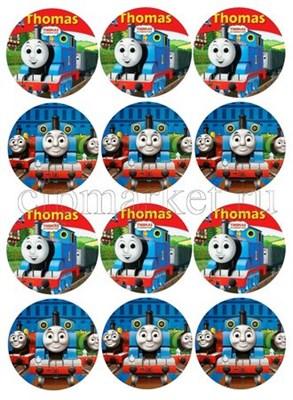 Съедобная картинка для капкейков Томас № 0131, лист А4. Вафельная/сахарная картинка. - фото 4705
