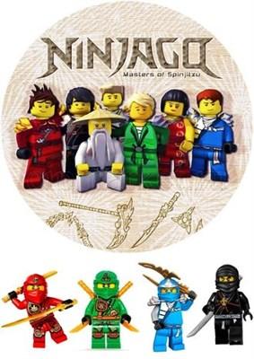 Съедобная картинка Лего Нинзяго № 01167, лист А4. Вафельная/сахарная картинка. - фото 4708