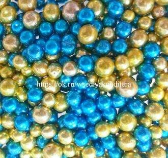 Шарики сахарные металлизированные Микс №3, 5 мм. Вес: 30 грамм. - фото 4823