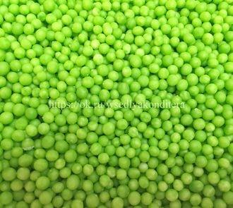 Драже зерновое в шоколадной глазури Зеленое, 3 мм. Вес: 50 гр. - фото 4897
