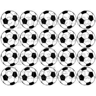 Съедобная картинка для капкейков Футбольный мяч № 01194, лист А4. - фото 5063