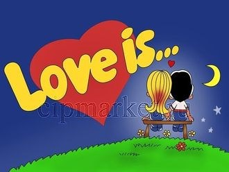 Съедобная картинка Love is № 012, лист А4. Вафельная/сахарная картинка. - фото 5091