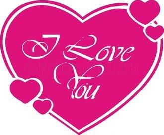 Съедобная картинка I love you № 0157, лист А4. Вафельная/сахарная картинка. - фото 5098