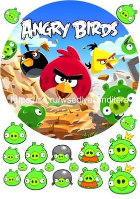 Съедобная картинка Angry Birds № 01786 , лист А4. Вафельная/сахарная картинка. - фото 5123