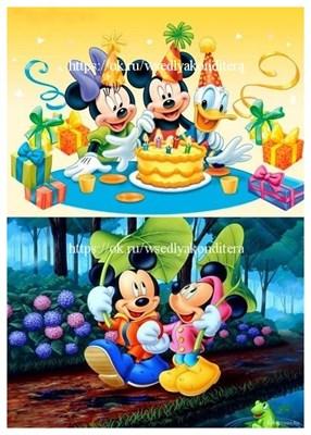 Съедобная картинка Микки Маус и друзья № 01585, лист А4. Вафельная/сахарная картинка. - фото 5145
