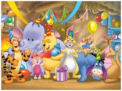 Съедобная картинка Винни и друзья № 01574, лист А4. Вафельная/сахарная картинка. - фото 5148