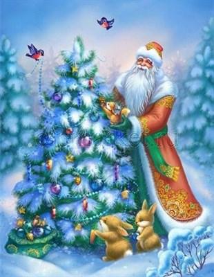 Съедобная картинка  Дед Мороз № 049, лист А4. Вафельная/сахарная картинка. - фото 5215
