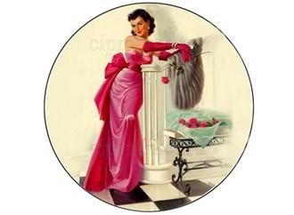 Съедобная картинка Девушка с розой № 01304, лист А4. Вафельная/сахарная картинка. - фото 5260