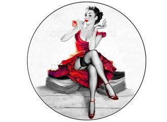 Съедобная картинка Девушка с зеркальцем № 01305, лист А4. Вафельная/сахарная картинка. - фото 5263