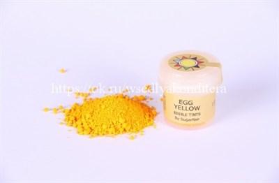"""Сухая краска цветочная пыльца """"Egg yellow"""" (желтая). Вес: 5 гр. - фото 5496"""