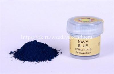 """Сухая краска цветочная пыльца """"Navy blue"""" (синий). Вес: 5 гр. - фото 5500"""