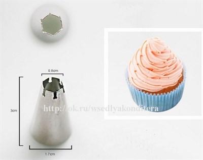 """Насадка """"Рельеф-3"""". Верхний диаметр: 0,8 см, нижний диаметр: 1,7 см, высота: 3 см. - фото 5553"""