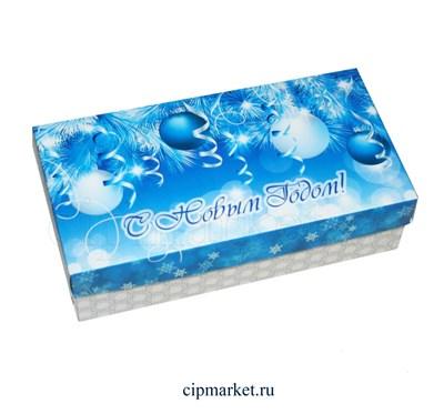 Коробка для конфет и сладостей №41 (Новогодняя). Размер: 20 х 10  х 5,5 см. - фото 5700