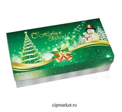 Коробка для конфет и сладостей №43 (Новогодняя). Размер: 20 х 10  х 5,5 см. - фото 5703