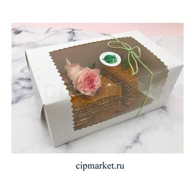 Коробка для торта и сладостей с окном. Размер:23*13*10 см. - фото 5720