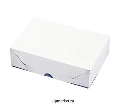 Коробка для пирожных Эконом. Материал: картон. Россия. Размер: 22 х 15 х 6 см. - фото 5731