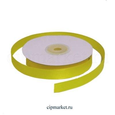 Лента репсовая Желтая. Ширина: 1 см. Длина: 23 м. - фото 5800