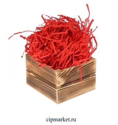 Наполнитель бумажный Красный. Вес: 50 гр. - фото 5812