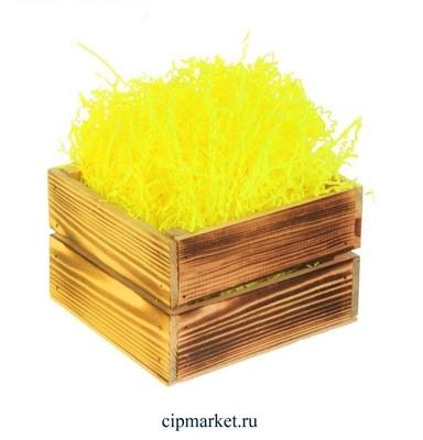 Наполнитель бумажный Жёлтый. Вес: 50 гр. - фото 5814