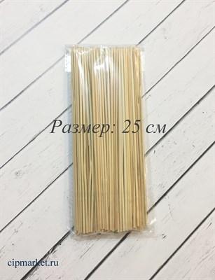 Шпажки бамбуковые, набор 100 шт. Размер: 25 см. - фото 5847