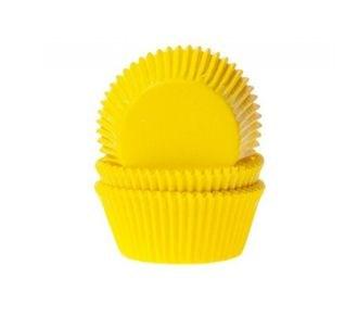 Формы бумажные Желтые, набор из 50 шт. Диаметр дна: 5 см, высота: 2,5 см. - фото 5900
