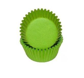 Формы бумажные Зеленые, набор из 50 шт. Диаметр дна: 5 см, высота: 2,5 см. - фото 5902
