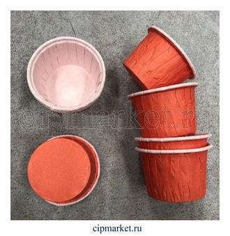 Формы бумажные гофре Оранжевые, набор 10 шт. Диаметр дна:5 см, высота: 3,5 см. - фото 5920