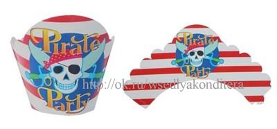"""Украшение для кексов """"Пиратская вечеринка"""", набор 12 шт. - фото 5934"""