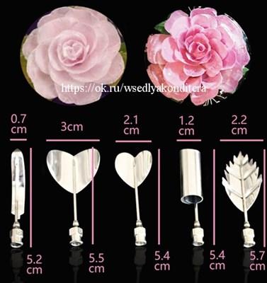 """Набор инструментов для формирования цветов из желе """"Розалия"""", 5 шт. Размер: 5-6 см. - фото 5972"""