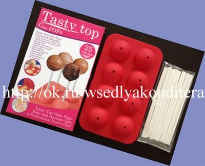 Форма для приготовления кейк попсов+16 палочек в комплекте. Размер форм: 20*12 см. - фото 6003