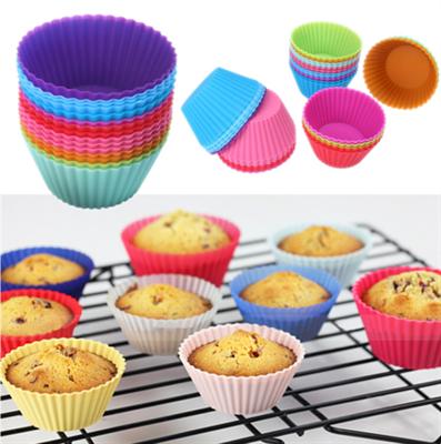 Набор силиконовых форм для кексов, 6 шт. Размер: 3*5*7 см. - фото 6007
