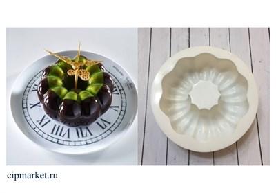 Форма силиконовая для муссовых тортов и мороженого Магия-2. Размер: 18 см ? 6 см. - фото 6013