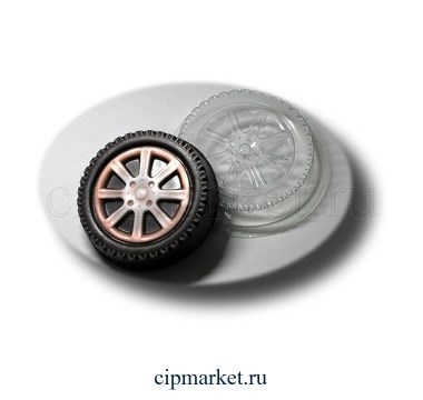 Форма для шоколада Колесо. Материал: пластик. Размер: 9 х 9 х2 см. - фото 6036