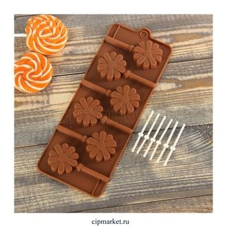 Форма для шоколада и конфет Ромашка. Размер: 24*9,5 см. - фото 6057