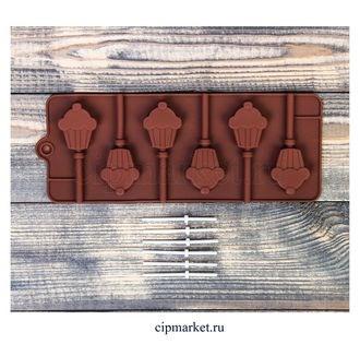 Форма для шоколада и конфет Кексик. Размер: 24*9,5 см. - фото 6058