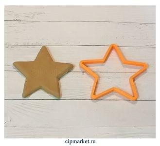 Вырубка Звезда. Материал: пластик. Размер: 7,5 см. - фото 6083